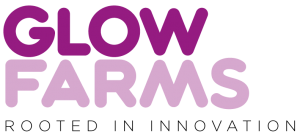 Corporate logo Glowfarms Rooted in innovation